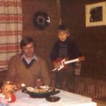 Mit Papa Hans und Schwester Tanja