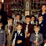 Bei der Erstkommunion 1973
